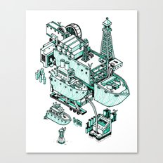 Small City - Green Canvas Print