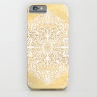 iPhone & iPod Case featuring White Gouache Doodle On … by Micklyn