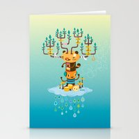 Cloud Music Stationery Cards
