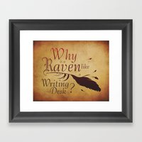 The Raven's Desk Framed Art Print