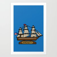 Anchor Pixel Art Print