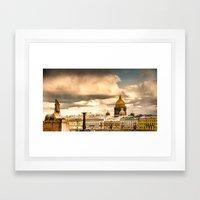 Sphinxes on Neva Framed Art Print