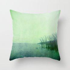 Inner Journey - Blue Throw Pillow