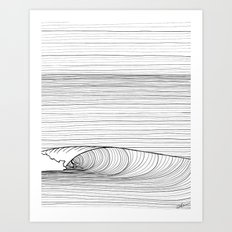 Groundswell Black And Wh… Art Print