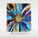 Dutch Spin - Colorful abstract painting flower Shower Curtain