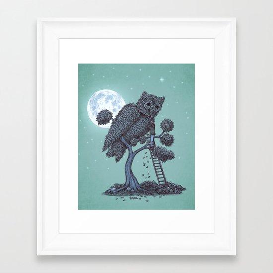 The Night Gardener  Framed Art Print