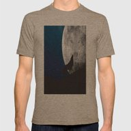 Howling Wolf Mens Fitted Tee Tri-Coffee SMALL