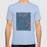 - cosmos_04 - Mens Fitted Tee Tri-Blue SMALL