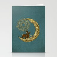 Stationery Cards featuring Moon Travel by Eric Fan