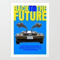 Back To The Future Art Print