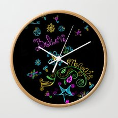 Believe in Magic Wall Clock