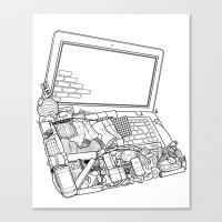 Laptop Surroundings Canvas Print
