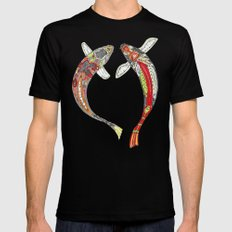 lucky koi off white Mens Fitted Tee Black SMALL