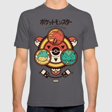 Pocket Monster Trainer Mens Fitted Tee Asphalt SMALL