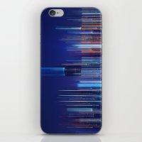 Miami Skyline Abstract iPhone & iPod Skin