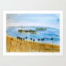 Long Beach Oil Islands Before Sunset Art Print