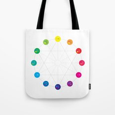 Simple Color Wheel Tote Bag
