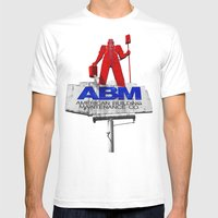 The American Worker Mens Fitted Tee White SMALL
