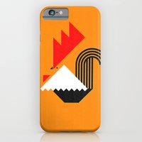 iPhone & iPod Case featuring Rooster (orange) by Buchino