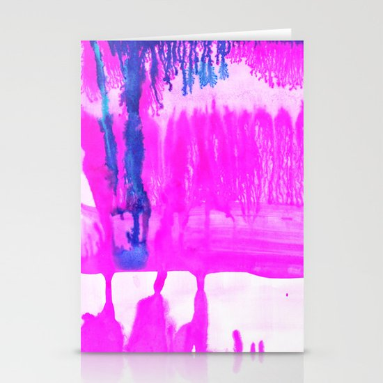 Dip Dye Hot Pink Stationery Card