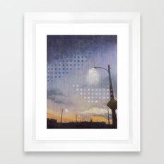 Sixth Street Lights Framed Art Print