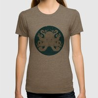 Octopus Womens Fitted Tee Tri-Coffee SMALL