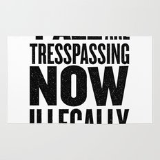 Y'all are tresspassing Rug