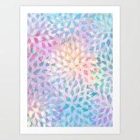 Summer Pattern #2 - color variation Art Print