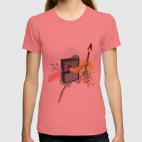 UNTITLED #2 Womens Fitted Tee Pomegranate SMALL