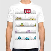 City Travel Mens Fitted Tee White SMALL