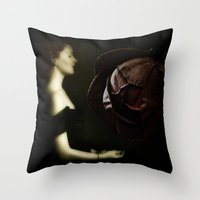 In The Heart Of A Rose Throw Pillow