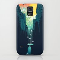 Galaxy S5 Cases featuring I Want My Blue Sky by Budi Kwan