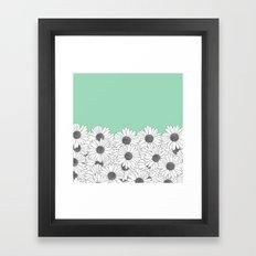 Daisy Boarder Mint Framed Art Print