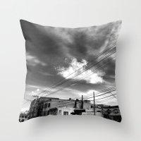 CafeTazo SF Street Photo Throw Pillow