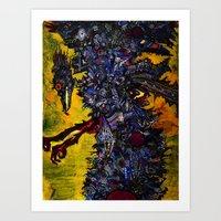 Death Stork Art Print