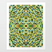 Leaves, Trees And Blu Sk… Art Print