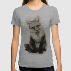 Fox Say What?! Womens Fitted Tee Athletic Grey SMALL