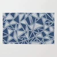 Abstract Outline Lines N… Rug