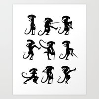 Ministry Of Alien Silly … Art Print