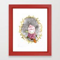 Walk In The Snow  Framed Art Print
