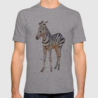 Zebra, Baby Zebra, Afric… Mens Fitted Tee Athletic Grey SMALL