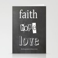Faith, Hope And Love Stationery Cards