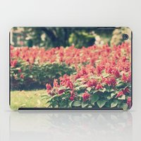 In red iPad Case