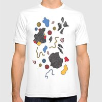 doodle conversation Mens Fitted Tee White SMALL