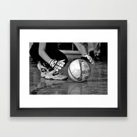 Kick-off Framed Art Print
