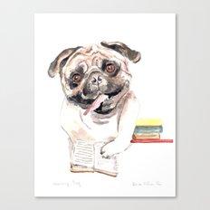 Bookish Bulldog Canvas Print