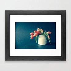 Thinking of You - Sending Tulips Framed Art Print