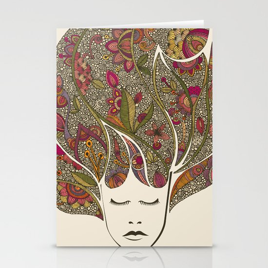 Dreaming with flowers Stationery Card