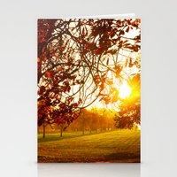 Autumn Sun Stationery Cards