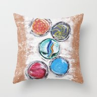 Marbles Throw Pillow